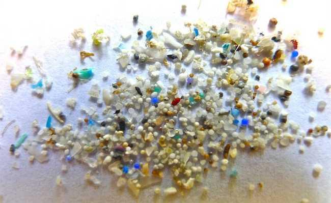pequenos pedacinhos de plástico