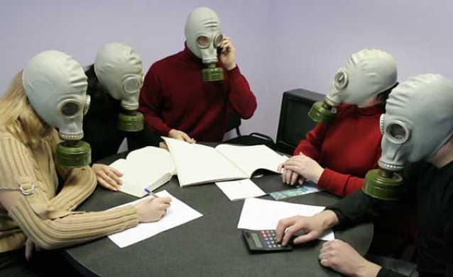 Pessoas Máscara respiratória