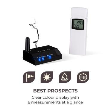 Halley Professional Weather Station, 6-in-1 Measurements, Indoor and Outdoor, WiFi, App