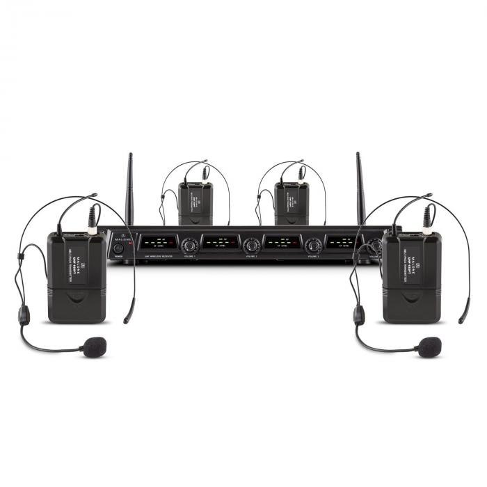 Duet Quartet Fix V3 4-Channel UHF Wireless Microphone Set