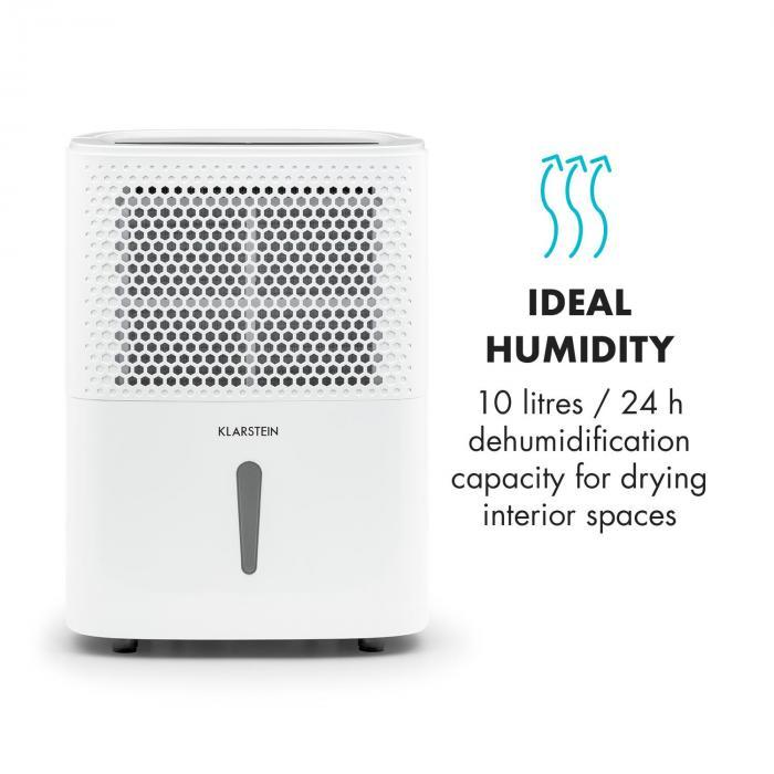DryFy 10 Dehumidifier Compression 10l / 24h 240W Timer White