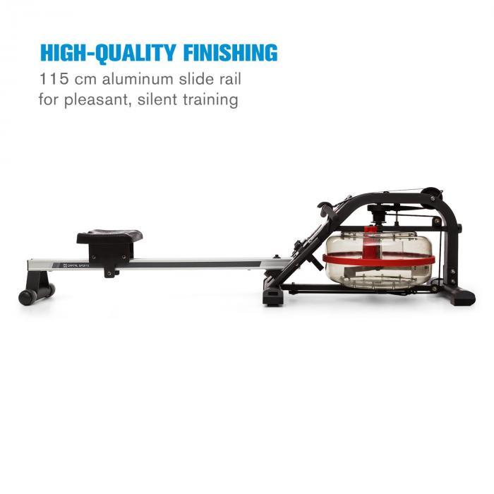 Rowlympic Water Rowing Machine 115cm Adjustable LCD