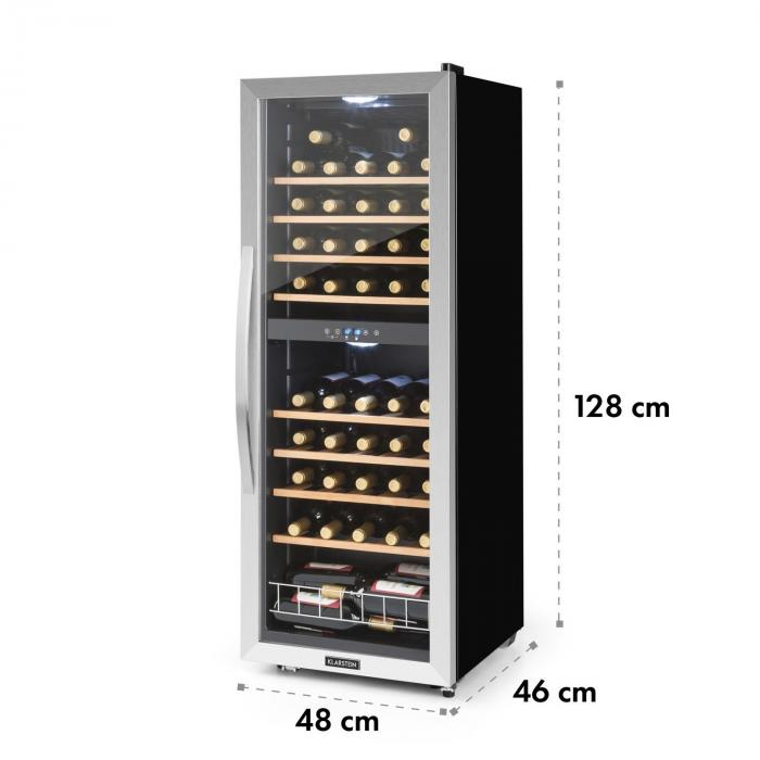 Vinamour 54D nevera de vinos 2 zonas 148 l 54 botellas