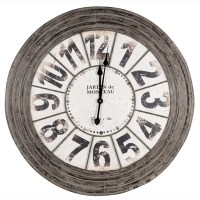 Large Metal Round Wall Clock