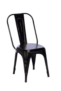 TOBY Metal Dining Chair - Black
