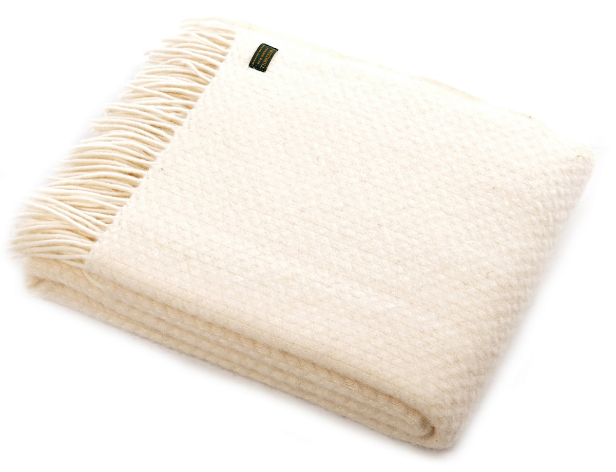 cream sofa throws uk reviews of natuzzi leather sofas wool blanket online british made gifts wafer pure new