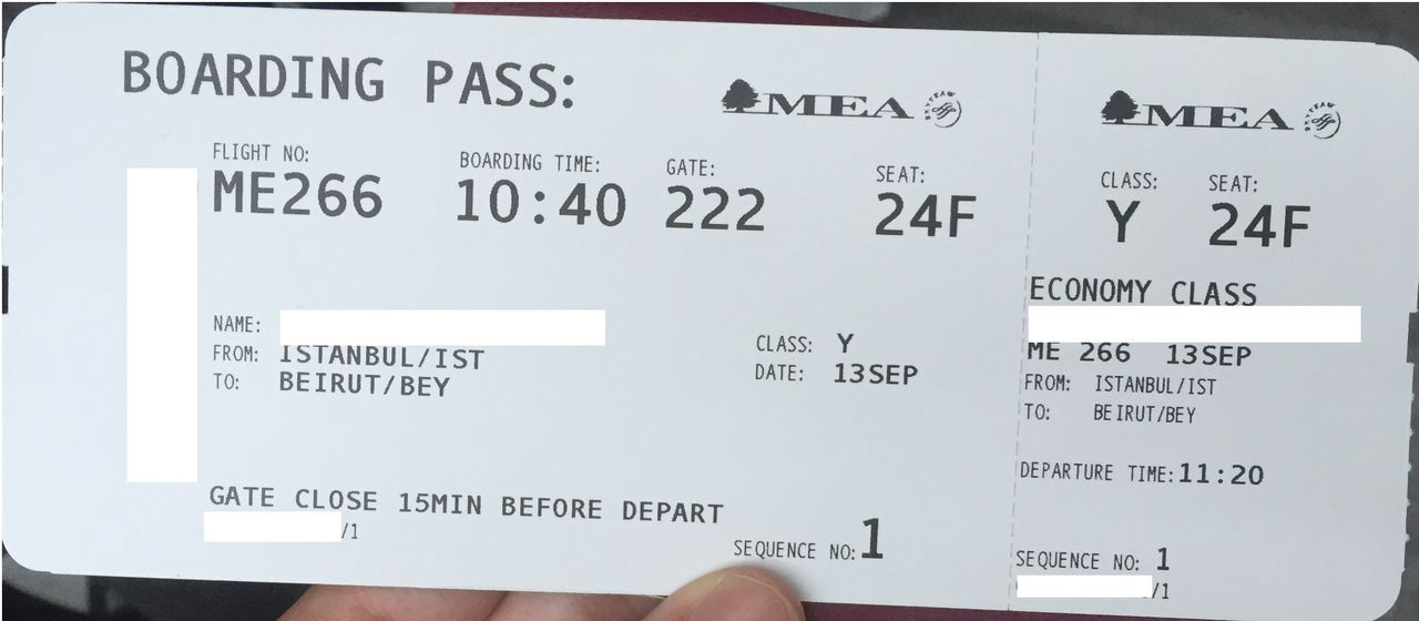 Review of Middle East Airlines flight from Istanbul to Beirut in Economy