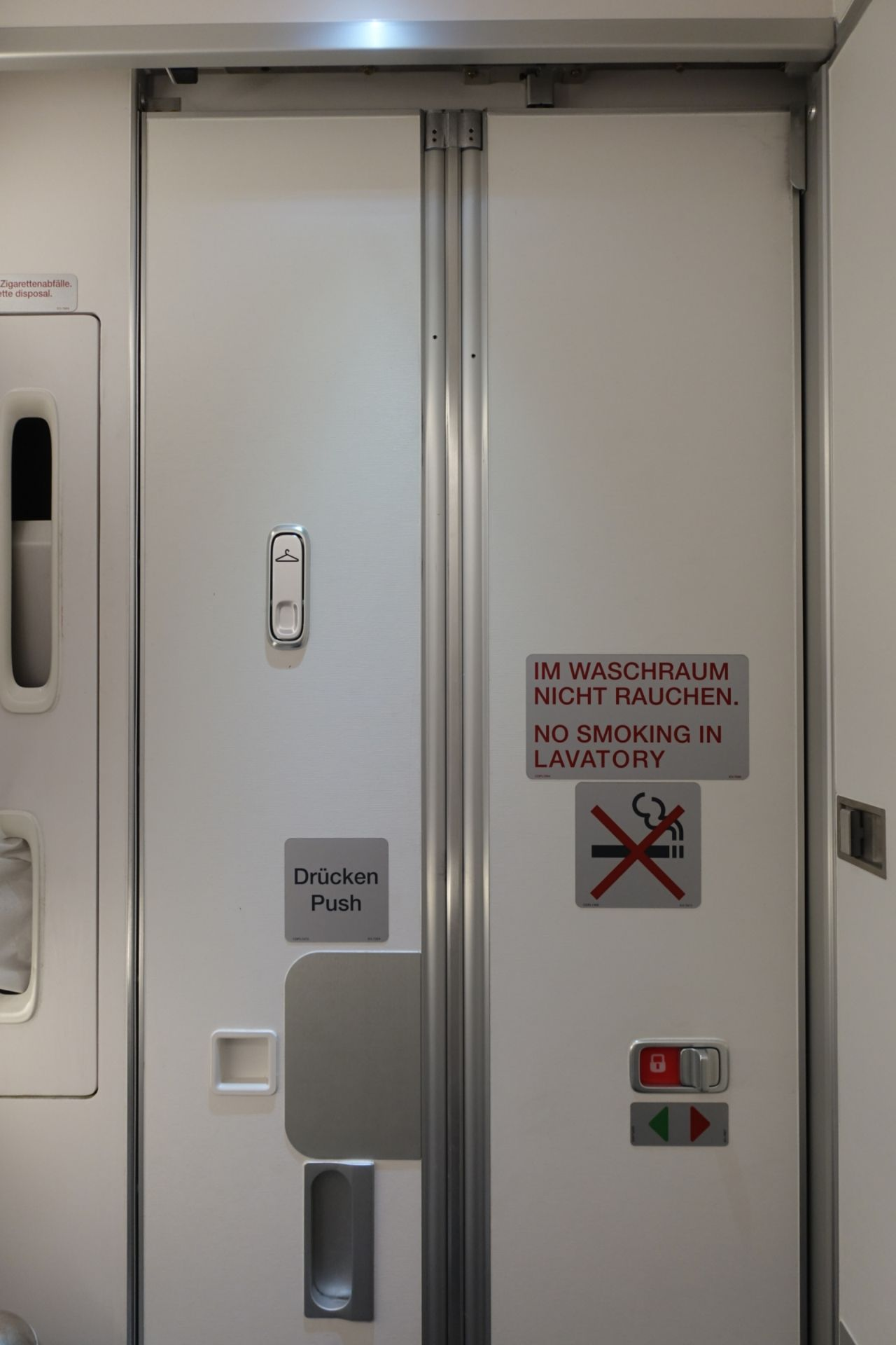 There are two lavatories at the back of plane took one in