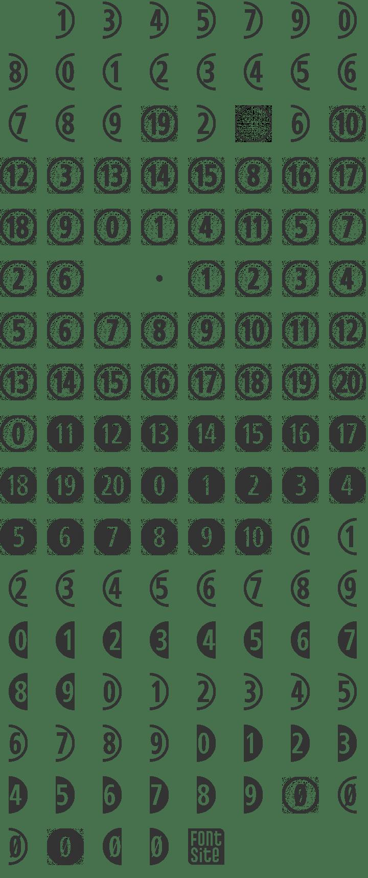 CombiNumerals Ltd Font Free by FontSite Inc. » Font Squirrel