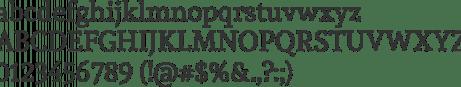 Andada Font Specimen