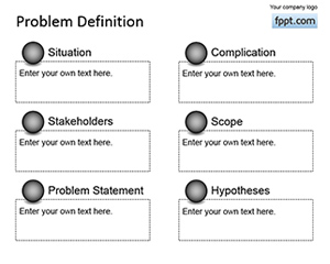 Free Simple Problem Definition PowerPoint Template