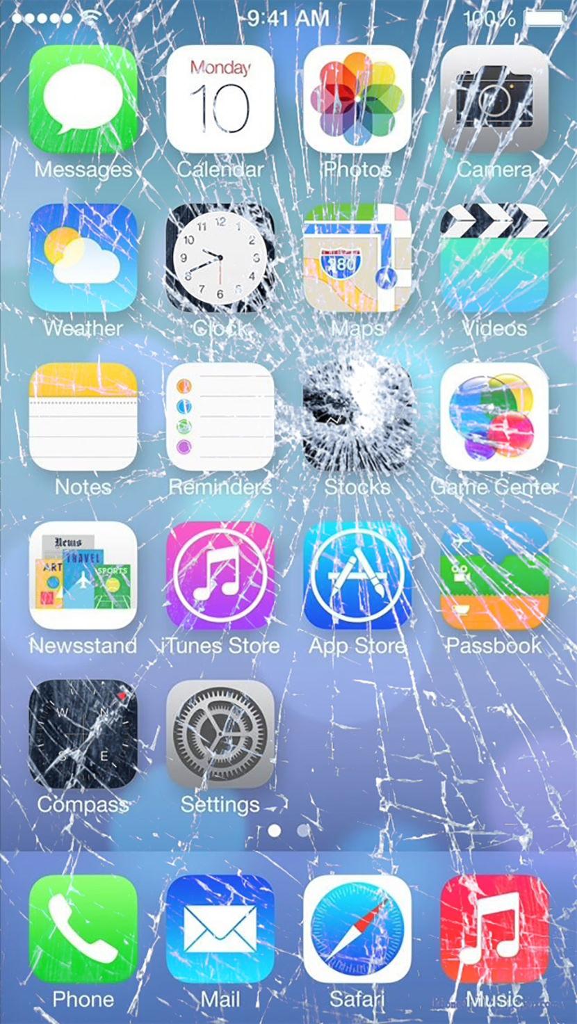 Iphone X Cracked Screen Wallpaper 7 Broken Screen Wallpapers For Apple Iphone 5 6 And 7