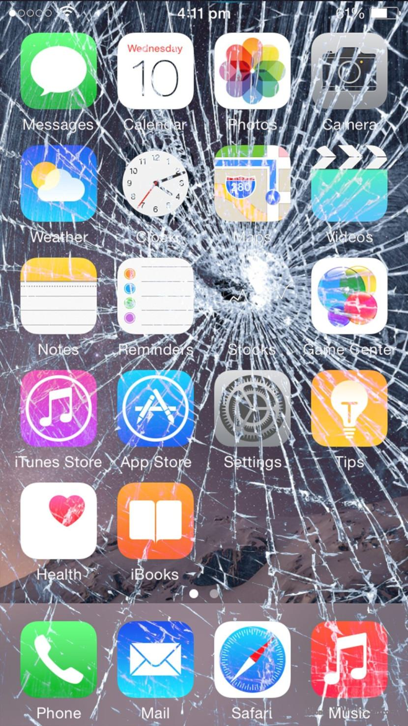 Cracked Screen Wallpaper Iphone X 7 Broken Screen Wallpapers For Apple Iphone Best Prank