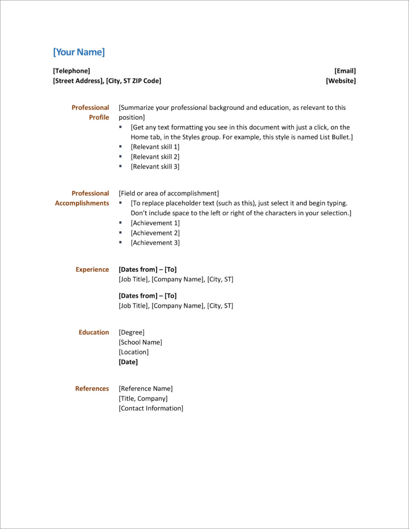 Resume Templates For Office 35 Free Resume And Cv Templates In Microsoft Word Docx And Google Docs