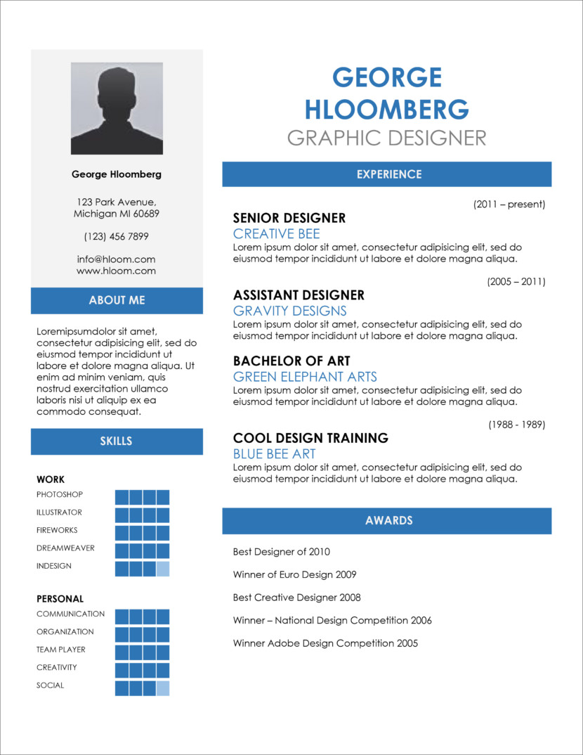Free Resume Word Template 35 Free Resume And Cv Templates In Microsoft Word Docx And Google Docs