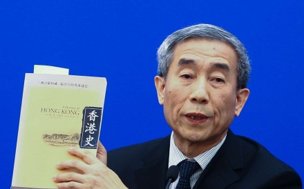 Basic Law Committee chairman Li Fei makes a point about the interpretation on oath-taking. Photo: Simon Song