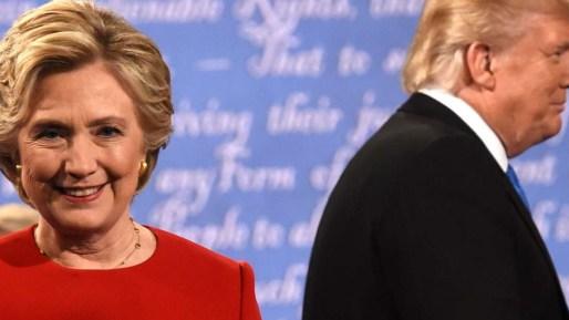 Hillary Clinton (left) is battling against Donald Trump. Photo: AFP