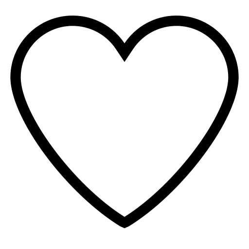 Favorite heart like love valentine icon