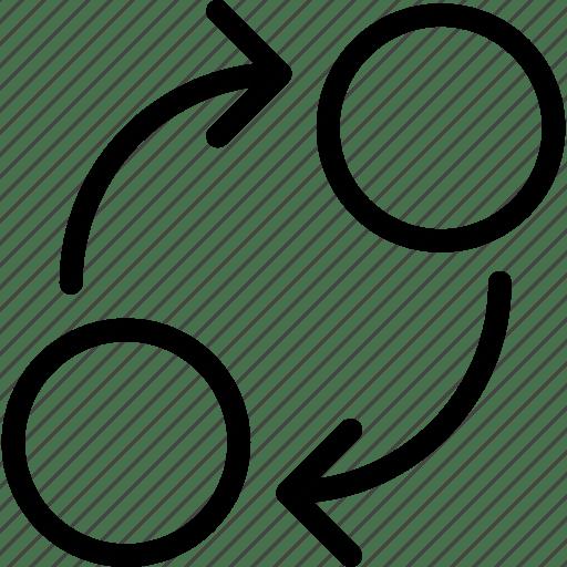 Business, circle, circular, flow, marketing, working icon