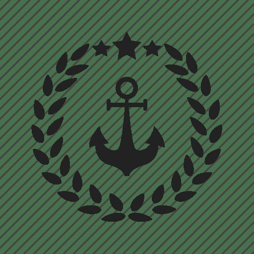Achievement, anchor, award, corona, coronal, crown, marine