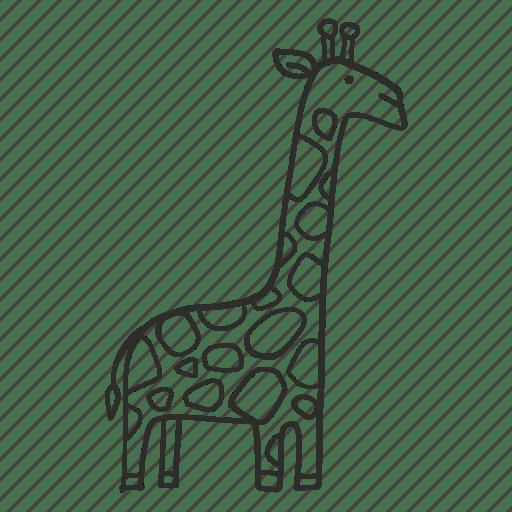 Exotic Giraffe Africa Outline Animal Icon