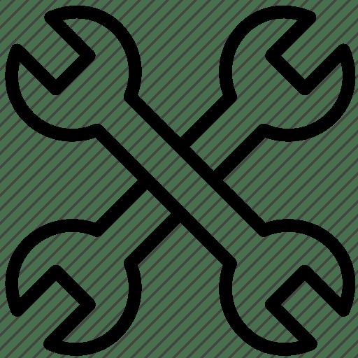 Cross, french, key, mechanics, tool icon