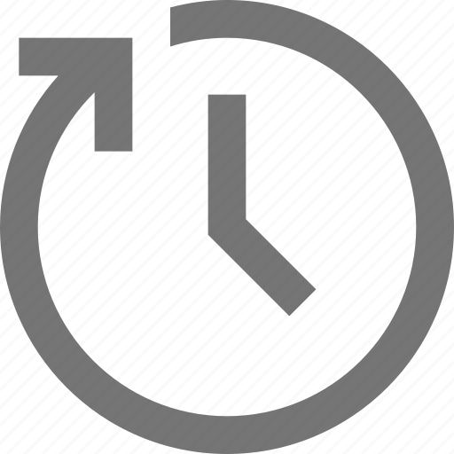Banking clock refresh reload time icon