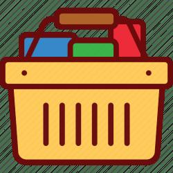 icon basket goods shopping cart editor open