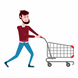 shopping cartoon cart icon boy male clipart icons interest illustration m1 juice super friday sales web editor open line