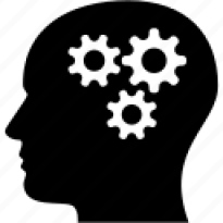 Head, think, brain, cogs, gears, people, thinking