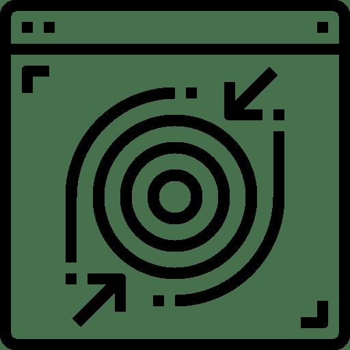 Business, management, market, marketing, target icon