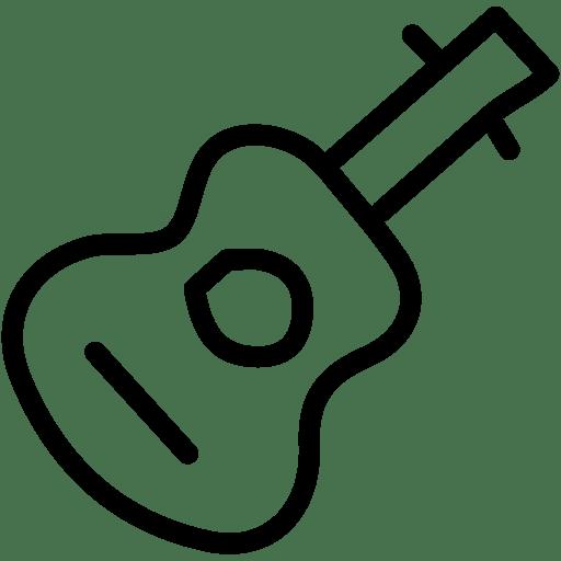 Advanture, camp, camping, guitar, hand drawn, music