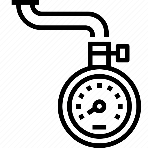 Air, device, meter, pressure, scale, tire, tyre icon