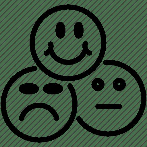 Client, happy, mark, rank, sad, smiles, status icon