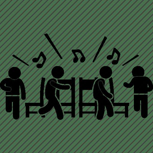 chair games for seniors staples executive joyful kids music party icon