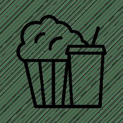 icon combo popcorn menu meal cinema bucket drink theatre movie editor open