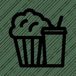 popcorn icon combo cinema food drink menu meal movie icons editor open