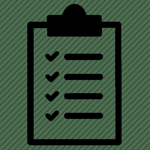 Checklist, job, list, tasks, to do list icon