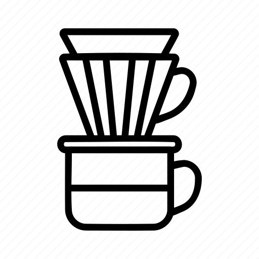 Brewing methods, coffee, manual brew, v60 icon