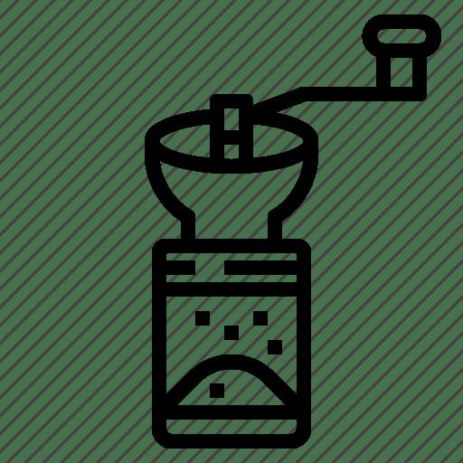 Bean, coffee, grinder, hand, manual icon