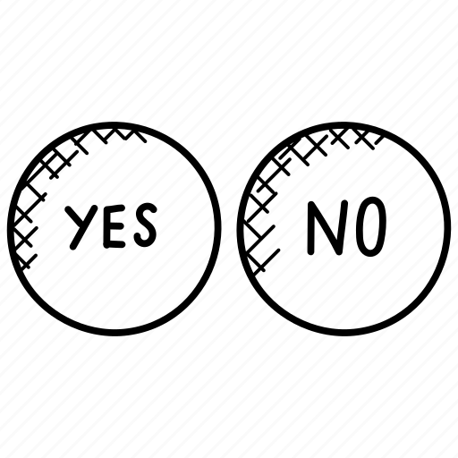 Feedback, poll, questionnaire, survey, yes or no icon