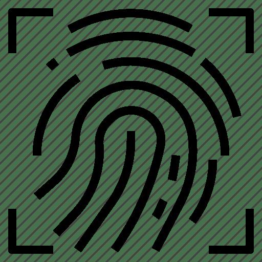 Cyber, digital, fingerprint, password, scan, security icon