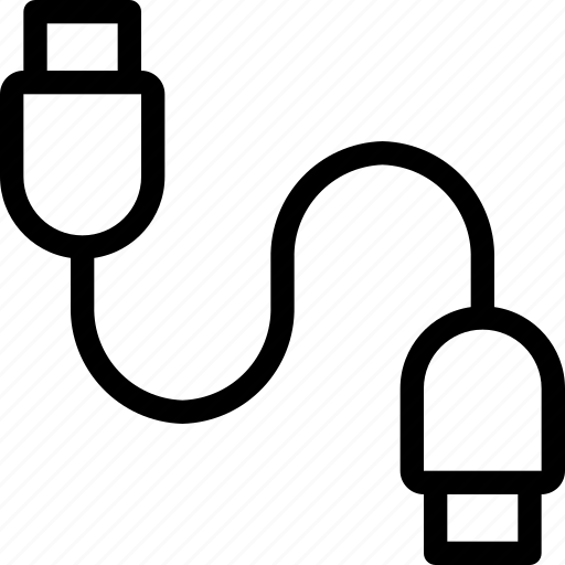 Cable, device, digital, electronic, technology, usb, wire icon