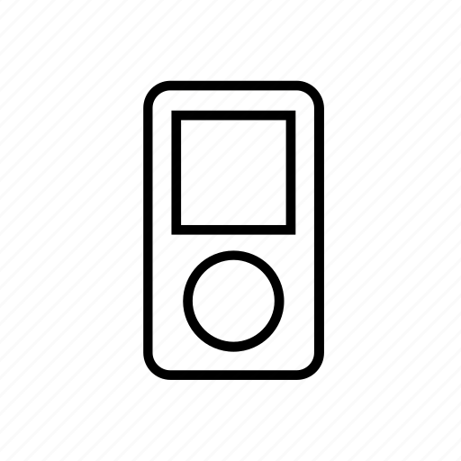 Apple, device, ipod, music, outline, player icon