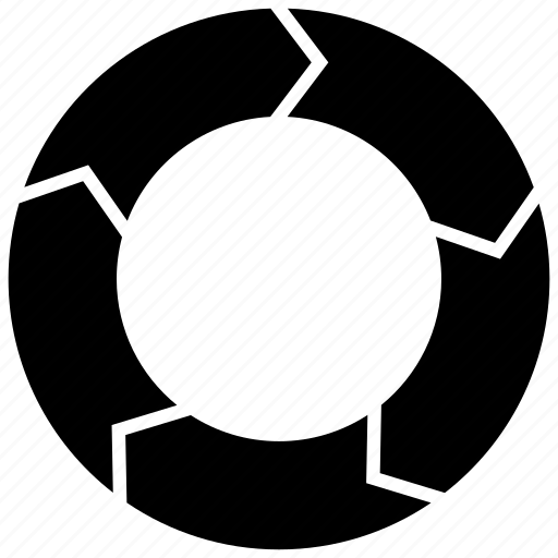 Circle Divided Into 5 Vector