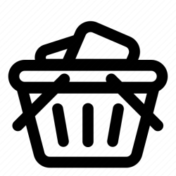 basket icon shopping cart ecommerce icons outline editor open