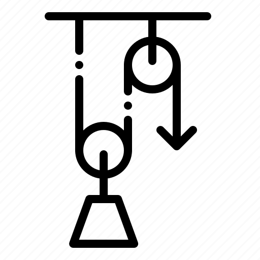 Energy, lab, lever, load, physics, pulley, work icon