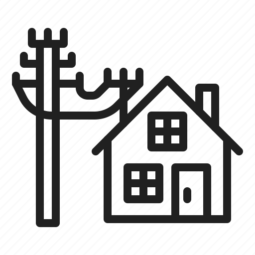 Connection, electrical, electricity, house icon
