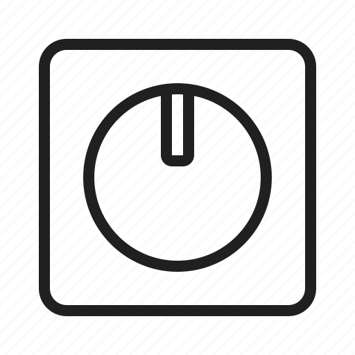 Dimmer, electric, light, switch icon