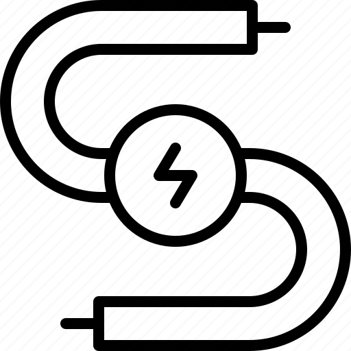 Cable, electric, electricity, energy, metal, spark, wire icon
